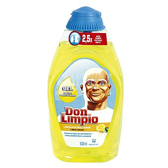 Don Limpio Limpiador en gel concentrado Limón Fresco Botella 520 ml