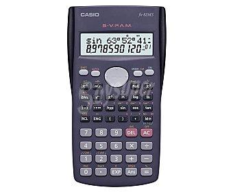Casio Calculadora científica con pantalla de 2 lineas, 240 funciones programables, editor de datos, tapa deslizante y alimentación a pilas del tipo AA, modelo Fx-82MS 1 unidad