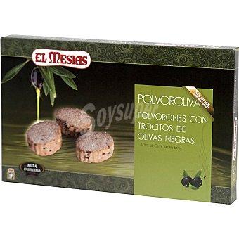 EL MESIAS Polvorolivas, polvorones con trocitos de olivas negras y aceite de oliva virgen extra estuche 300 g