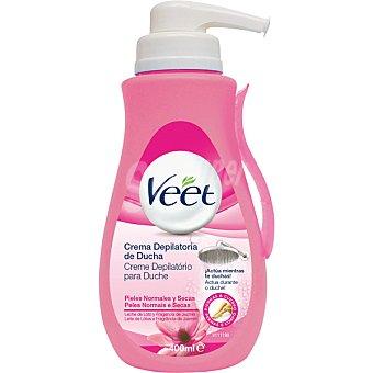 Veet Crema depilatoria de ducha con leche de loto y jazmín para piel normal y seca dosificador 400 ml Dosificador 400 ml