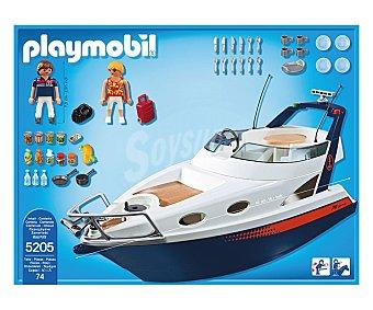 PLAYMOBIL Playset de juego Yate de lujo con cubierta extraíble y 2 figuras, 42x14x17 centímetros, modelo 5205 Summer Fun 1 unidad