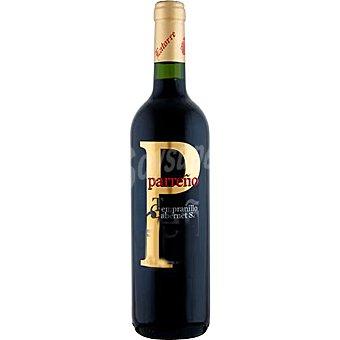 PARREÑO Vino tinto tempranillo cabernet sauvignon de Valencia botella 75 cl