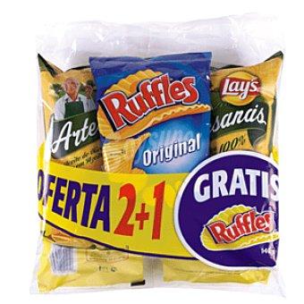 Matutano Patatas fritas lote 2 artesanas + 1 ruffles bolsa 430 gr Bolsa 430 gr