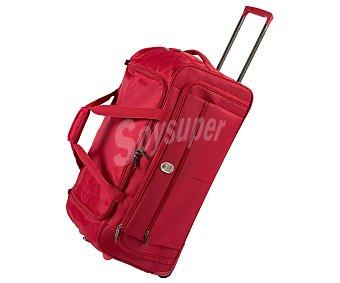 VISA DELSEY Pin Up Bolsa de viaje de 73 cm, 92 litros, con dos ruedas incluidas, estructura de poliéster 420 deniers color rojo. DELSEY.