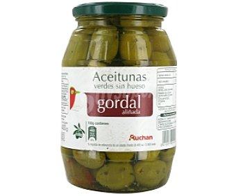 Auchan Aceitunas Gordal aliñadas sin hueso Tarro 400 Gramos