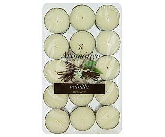 AROMÁTICO Velas calientaplatos o teelights perfumadas con olor a vainilla Pack de 30 Unidades
