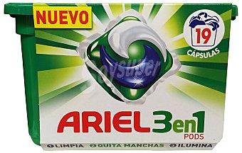 Ariel Detergente lavadora liquido capsulas actilift Caja 735 g (21 lavados)