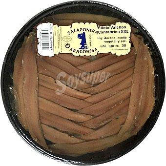 Salazonera aragonesa Filetes de anchoa del Cantábrico XXL Tarrina 145 g neto escurrido