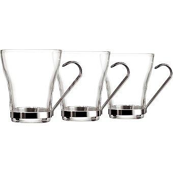 LUMINARC Tazas de te de vidrio con asa 25 cl set de 3 unidades 25 cl