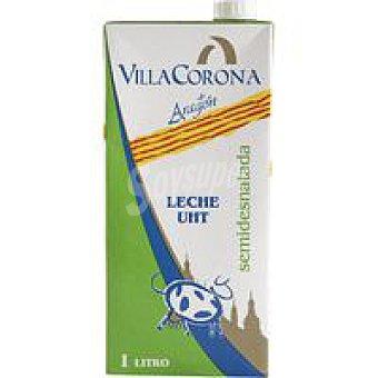 VILLACORONA Leche Semidesnatada Brik 1 litro