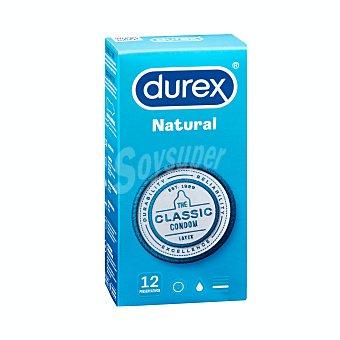 Durex Preservativos lubricados de latex natural Paquete 12 ud