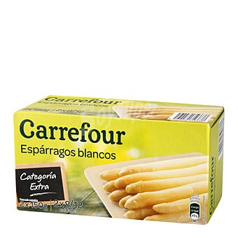 Carrefour Espárragos blancos medios 8/12 Pack de 2x150 g