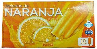 HACENDADO Helado palo hielo naranja Caja de 10 unidades