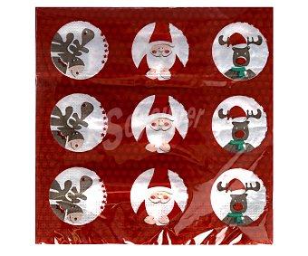 Actuel Servilletas desechables de doble capa con diseño navideño, 33x33 centímetros, Funny Christmas 50 unidades