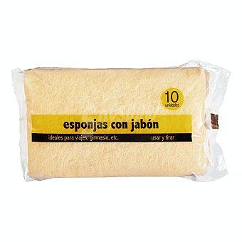 Jalsosa Esponja baño con jabon Paquete 10 u