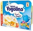 Postre lácteo sabores plátano y melocotón suave sin gluten Pack 6 x 60 g Iogolino Nestlé