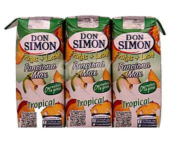 Don Simón Zumo tropical con leche Brik de 330 mililitros pack de 3