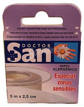 DOCTOR SAN Esparadrapo tejido SIN tejer hipoalergenico (5 m x 2,5 cm) 5 metros