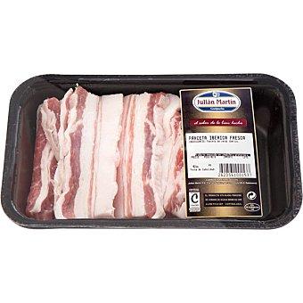 JULIAN MARTIN Panceta fresca en lonchas de cerdo ibérico peso aproximado Bandeja 400 g