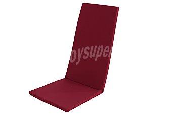 COMATEX Cojín para tumbona multiposición modelo Grey Line de color rojo burdeos, de 120x49x3 centímetros, lavable y de gran resistencia al exterior 1 unidad