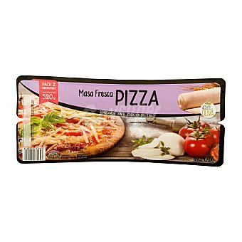 Hacendado Base pizza refrigerada Pack 2 uds (520g)