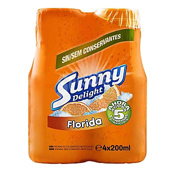 Sunny Delight Refresco naranja Florida Pack 4x200ml