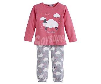 In Extenso Pijama polar largo de niña talla 4