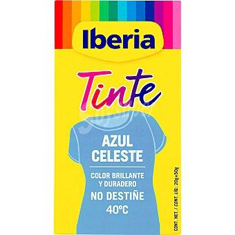 Iberia Tinte para ropa cambia el color azul celeste caja 2 sobres