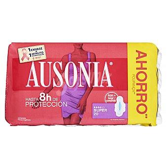 Ausonia Compresa absorción super ultra plegada alas Paquete 20 uds