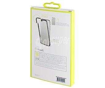 Muvit Protector lateral de aluminio y film protector trasero, plata, compatible con iphone 7. (teléfono no incluido) 7 bumper