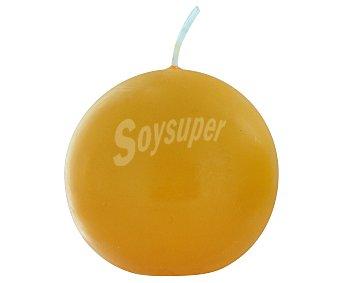 Auchan Vela con forma de bola de 60 milímetros y de color naranja 1 Unidad