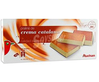 Auchan Turrón praliné de crema catalana 300 gramos