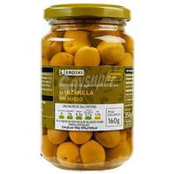 Eroski Aceitunas verdes sin hueso Frasco 160 g