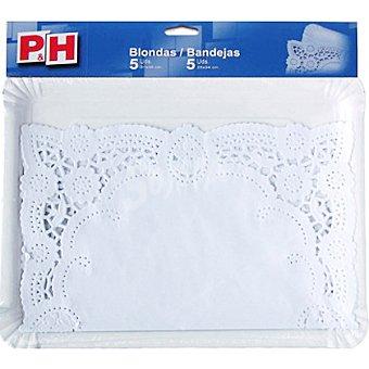 P & H Blonda 26x32 con bandeja cartón 22x28 Estuche 5 unidades