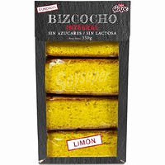 Garpe Bizcocho integral sin azúcar de limón caja 350 g