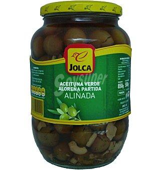Jolca Aceituna verde aloreña partida aliñada Frasco 500 g