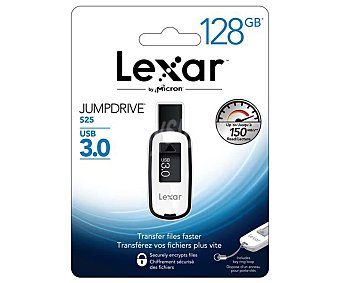 LEXAR S25 Memoria USB Pendrive lexar jumpdrive S25, 128GB, Usb 3.0 128GB Usb 3.0