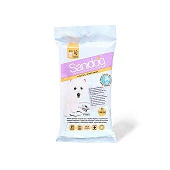 Sanidog Toallitas higiénicas para perros con clorhexidina Envase 40 unidades