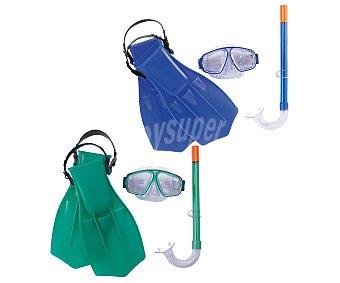 BESTWAY Set de buceo compuesto por aletas, mascara y tubo, recomendado para niños de 7 a 14 años 1 unidad