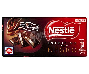 Extrafino Nestlé Chocolate extrafino negro 150 gramos