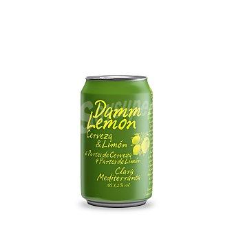 Damm Lemon Cerveza sabor limón Lata de 33 cl