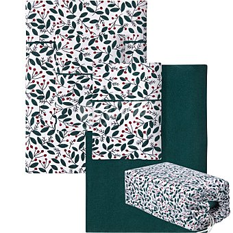 Unit Redberry juego de sabanas franela Redberry para cama 135 cm con bolsa para regalo