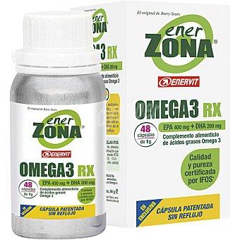 Enerzona Omega 3 aceite de pescado para la protección coronaria y regeneración de uñas y cabello tarro 48 cápsulas de 1g Tarro 48 c