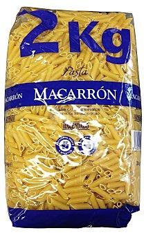 HACENDADO Macarrón pasta tamaño ahorro Paquete de 2 kg