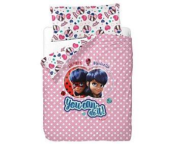 Ladybug Funda nórdica 50% algodón con estampado infantil más funda para almohada, 90cm. LADY BUG.