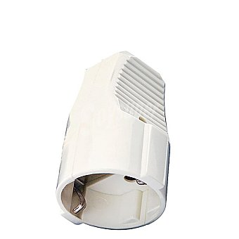 Base Movil Schuko 10a/16a. Blanca 1 ud