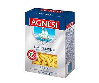 Agnesi Tortiglioni Nº 46, pasta de sémola de trigo duro de calidad superior, 500 gramos