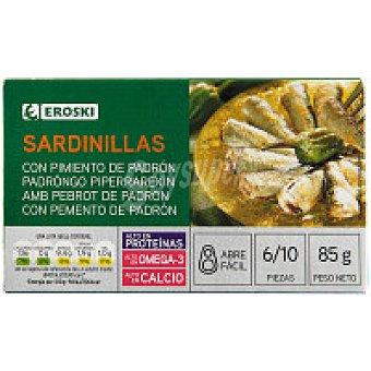 Eroski Sardinilla con pimiento Lata 85 g