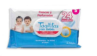 Deliplus Toallitas humedas bebe Paquete 24 u