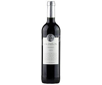 VALDEFLOR Vino tinto crianza con denominación de origen Campo de Borja Botella de 75 Centilitros